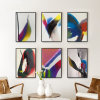 Modern Abstract Art Painting with Wood Frame for Wall Decor