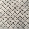 Bianco Carrara White Stone Marble Fan Shape Tile Floor Wall Mosaic