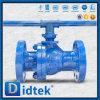 Didtek 100% Test Pn100 DIN Cast Steel Wcb Floating Ball Valve
