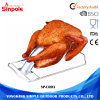 BBQ Accessory Outdoor Rectangular Barbecue Charcoal Chicken Turkey Roaster