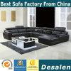 U Shape Black Color Genuine Leather Sofa (301)