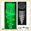 Colored LED Fiber Optic Chandelier with Crystal