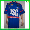 Dye Sublimation Printing Hidden Snap Club Pit Crew Shirts