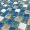Hot Sale Square Glass and Marble Mixed Mosaic (23*23mm)