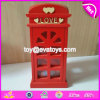 Customize Red Lovely Wooden Coin Banks for Adults W02A264