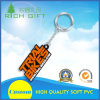 Fancy Soft PVC/Rubber Manufacture Names Ornament Keychains with Metal Ring