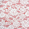 Ivory White Floral Allover Pattern Wrap knitting Lace for Wedding Dresses, Garments, Party Decoration