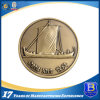 Promotional 3D Antique Brass Challenge Coin with Diamond Edge