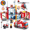Fire Airplane Station Plastic Blocks for Kids