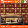 1.06m Wide Width Leather Like 3D PVC Luxury Wallpaper Guangzhou for Interior Decor