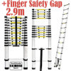 2.9m Single Telescopic Ladder with Finger Safety Gap