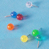 Wholesale Coloured Plastic Ball Head Push Pin Gift (QX-BP002) 9.5*20mm