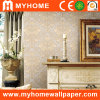 PVC Vinyl Deep Embossed Wall Paper with Flowers