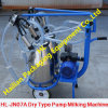 Dry Pump Double Buckets Mobile Milking Machine