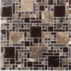 Building Material Natural Stone Marble Mixed Glass Mosaic Floor Tile