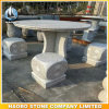 Granite Bench and Table Garden Decoration Dice Shaped Stone Benches Round Table