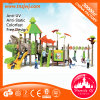 Outdoor Playground Plastic Slide Special Shining with Swing