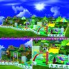 Amusement Castle Large Indoor Playground Children Playground Indoor Soft Playground (H14-Green)
