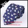 Handmade Custom Printed Small Animal Silk Tie for Men