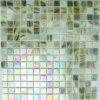 Green Iridium Glass Mosaic