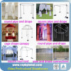 Event Backdrop Design Aluminum Pipe Drape Kits Wedding Pipe Drape Systems