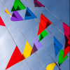 Colorful Top Popular Durable Triangle Bunting Flags for Decoration