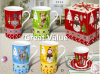 Christmas Theme White Ceramic Mugs Bulk