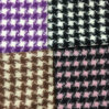 Houndstooth Napping Little Check Wool Fabric