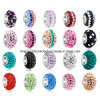 European Fashion Crystal Jewelry Beads, Silver Beads