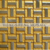 Golden Powder Mix Stainless Steel Crystal Glass Mosaic Wall Tile (KB22)