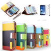 Cell Accessories for Samsung I9300 S4 for iPhone4/4s 5g, Silk Stripe Fabric PC Mobile Phone Case