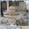 Customize Designer Rusty Yellow Stone Fountain for Garden Ornament (MRD)