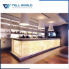 Customized Size Transmitting Light Solid Surface Drink Bar Counter