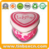 Heart Shape Metal Tin Gift Box for Chocolate Cream Biscuit