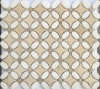 Building Material Mosaic Tile Beige Marble Mosaic Stone Tile for Wall Cladding (FYSL338)