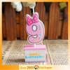 Colorful Happy Children′s Birthday Candle Cake Decoration