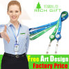 Custom Plastic Retractable Yoyo Holder Name Badge Ribbon Lanyard