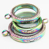 Hot Sell Rainbow Living Lockets Jewelry