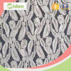 Beautiful Embroidered Gray Net Lace Milky Poly Jacquard Lace Fabric