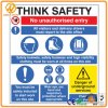 Aluminum or Plastic Reflective Custom Warning Safety Sign with Printing