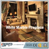 White Marble Curved Fireplace for House/Villa Living Room Decoration
