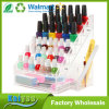 Clear Acrylic 36 Bottle Nail Polish Organizer Rack Display Stand with Accessory Holder Cup, Bottom Drawer