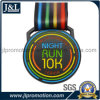 Customer Design 10K Running Medal in Black Nickel Finish