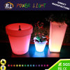 Home Furniture LED Plastic High Hotel LED Round Flower Pot