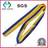 Stock Blue and Yellow Color Lanyard, Medal Ribbon