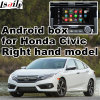Android GPS Navigation System Video Interface for Right Hand Drive Honda 10th Gen Civic, Touch Android System Navigation Rear View Mirror Link