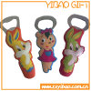 Cartoon PVC Beer Bottle Opener for Promotional (YB-BO-02)