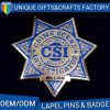 Top Quality Star Shape Police Lapel Pin Badge, Logo Custom