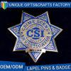 Top Quality Star Shape Police Lapel Pin Badge, Logo Custom