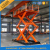 Fixed Vertical Scissor Cargo Lift Table with Ce